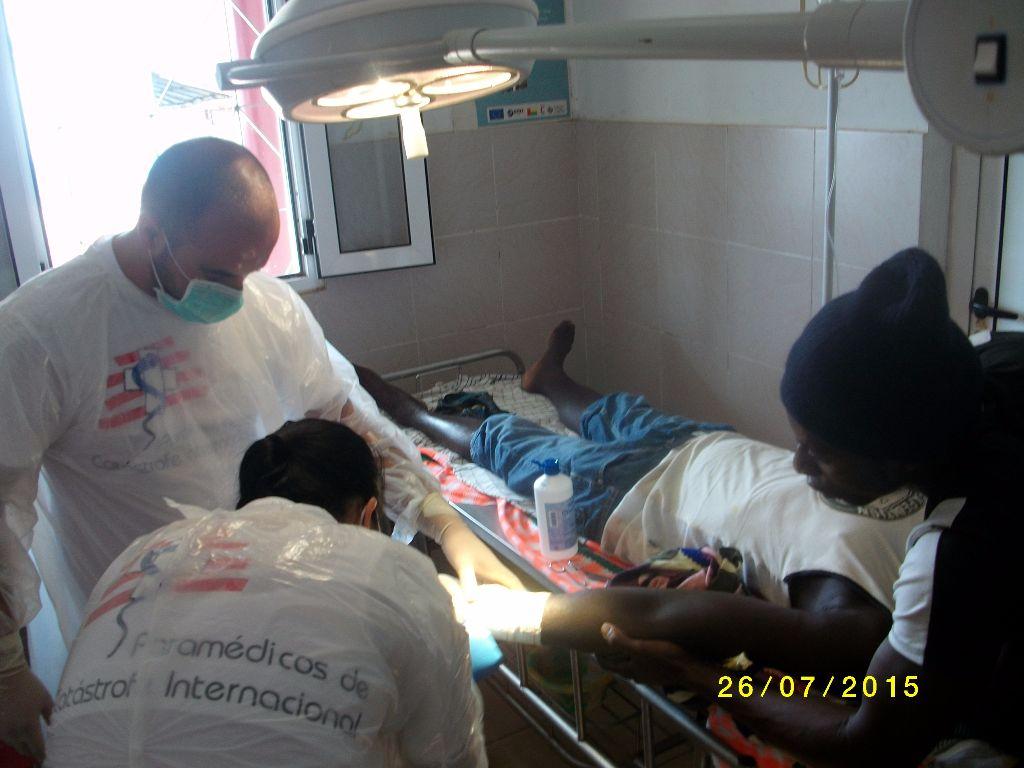 Apoio medico e medicamentoso de emergência na Guine Bissau