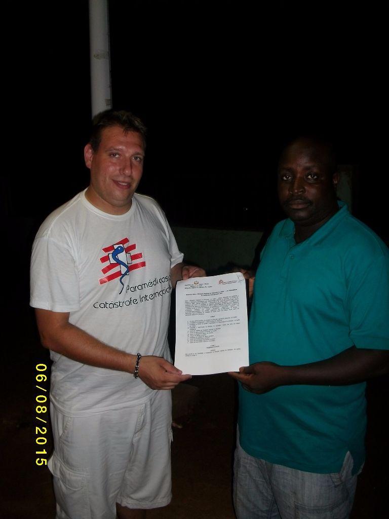 Assinatura de Protocolos de Cooperação na areia da saúde e Educação na Guine Bissau
