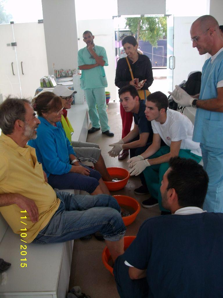 Apoio médico aos peregrinos a Fátima  em Outubro de 2015