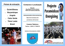 """Apresentação de flyer do """"Projecto Paramédicos Energizing"""""""