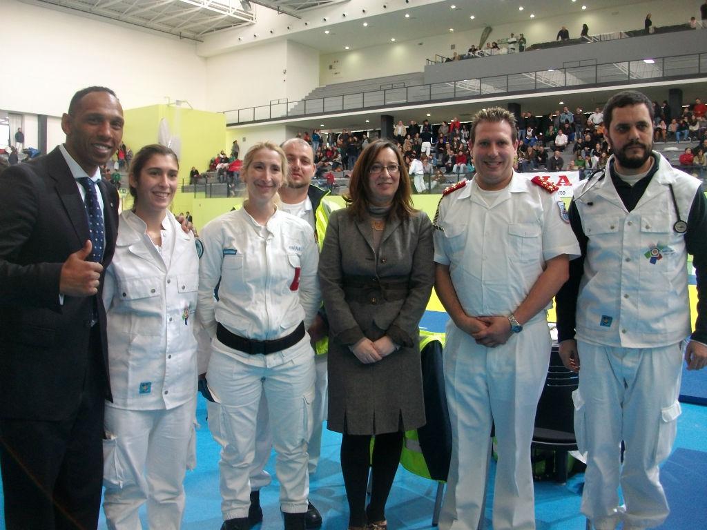 apoio médico ao 1º campeonato de judo