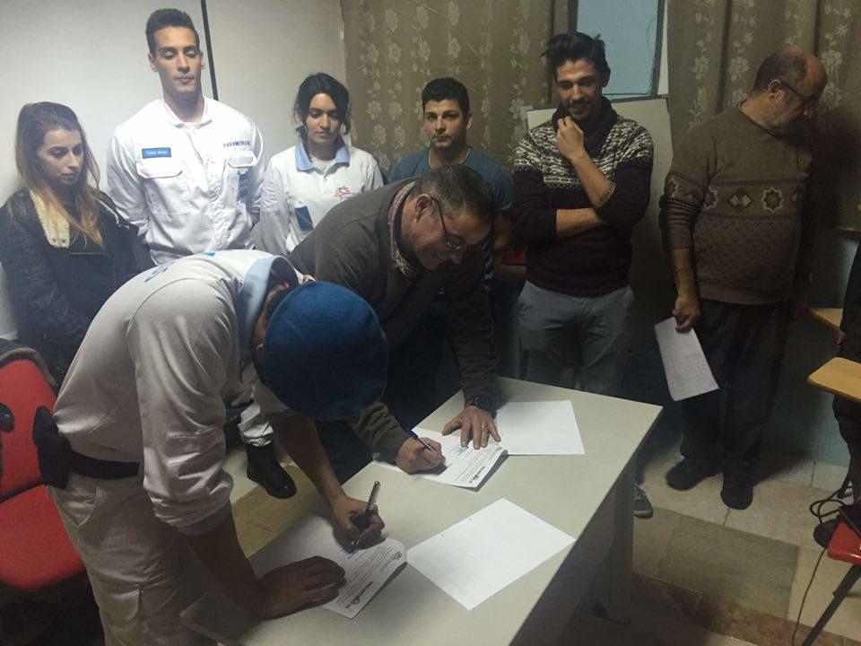 Assinatura do protocolo com a associação SÁ.
