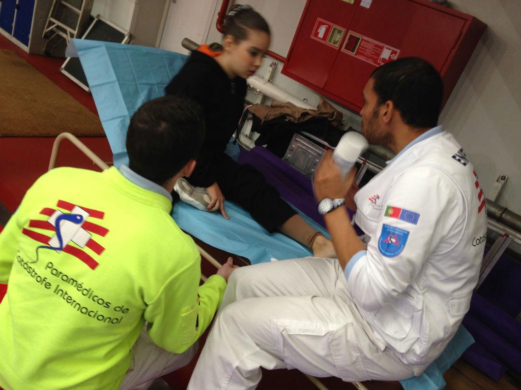 Apoio médico á prova de ginástica nas escolas de Lisboa