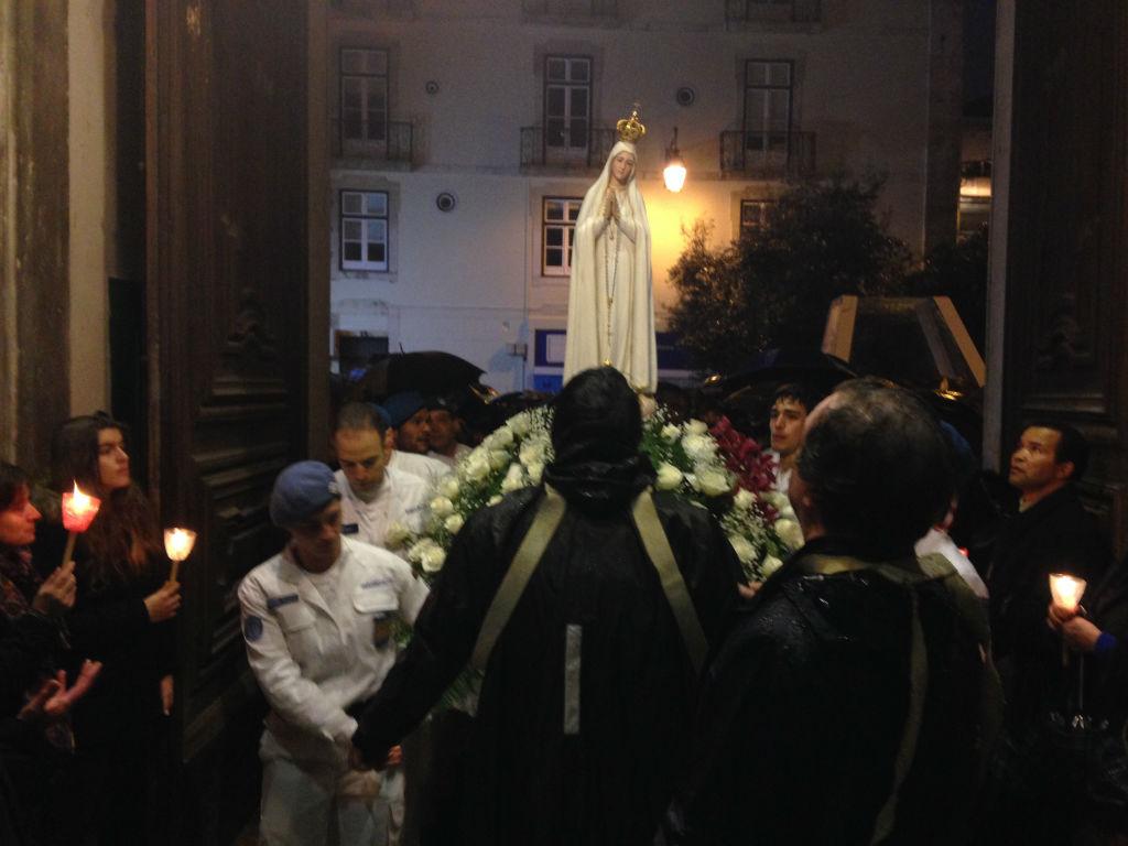 Apoio á procissão da nossa senhora de Fátima em Lisboa