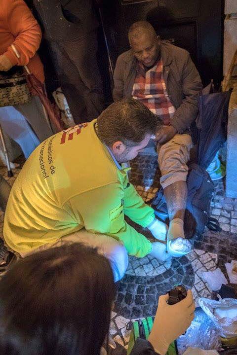Apoio aos sem abrigo nas ruas de Lisboa