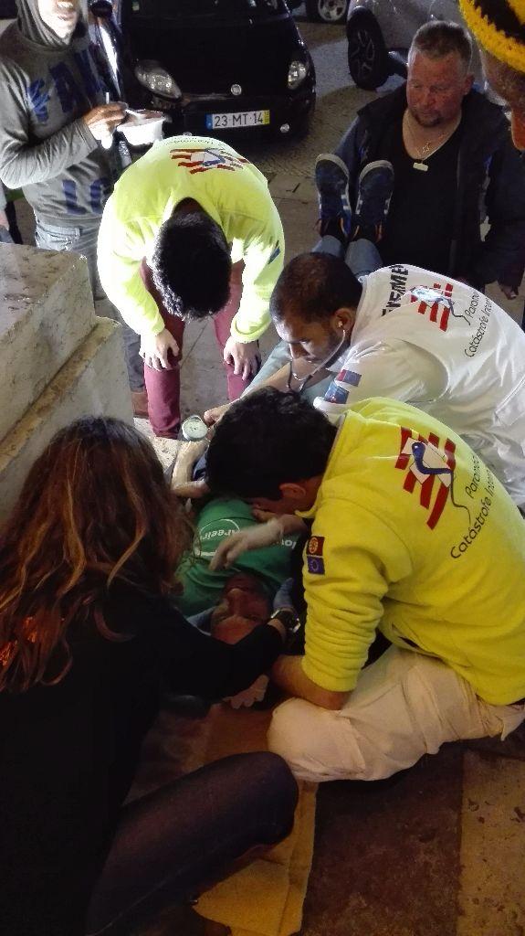 Apoio médico aos sem abrigo em Lisboa.