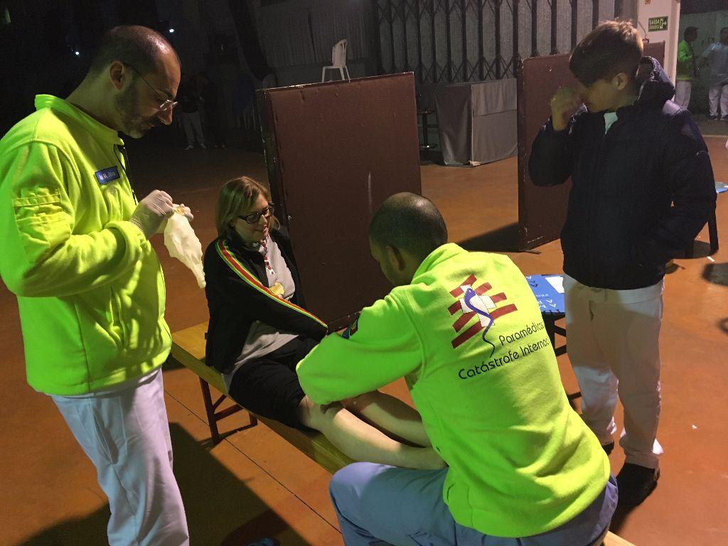Apoio médico aos peregrinos na sua caminhada/ peregrinação a Fátima ( Pavilhão de Minde)