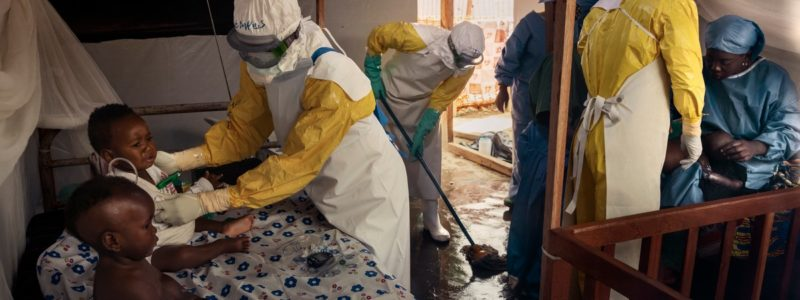 Africa, Democratic Republic of the Congo, North Kivu; Beni, 26th July. The Ebola epidemic has been under way in the Congo since August 2018. It has the second-highest death toll after the one in Western Africa in 2014, but the highest percentage of children who have contracted the virus.  There are over 700 confirmed cases of children who have contracted the disease, 57% of them under five years of age.